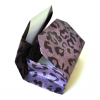 rectangle origami box in purple cheetah print