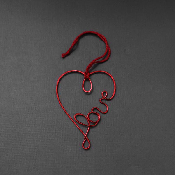 wire love ornament