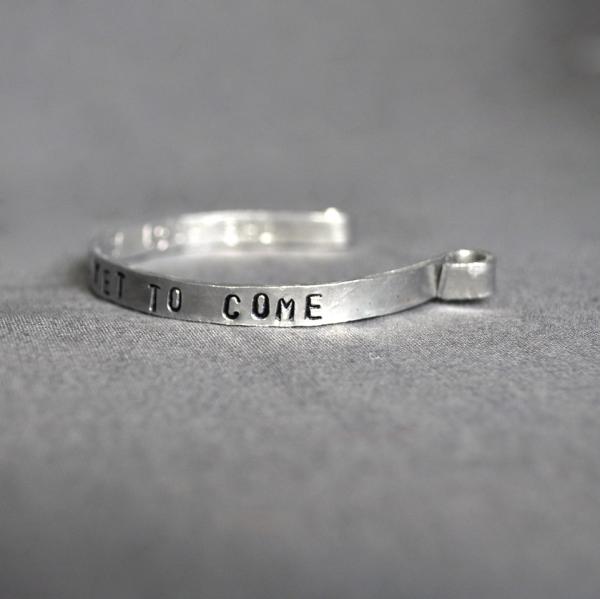 personalized narrow cuff bracelet