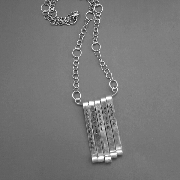 Personalized Multiple Vertical Bars Necklace