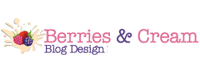 Berries and Cream Blog Design logo
