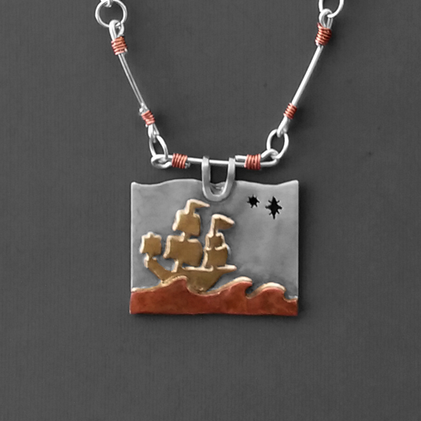 Captain Hook's ship necklace
