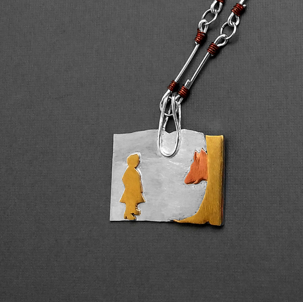 Little Red Riding Hood necklace