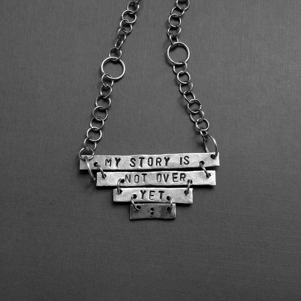triangle bars semicolon necklace