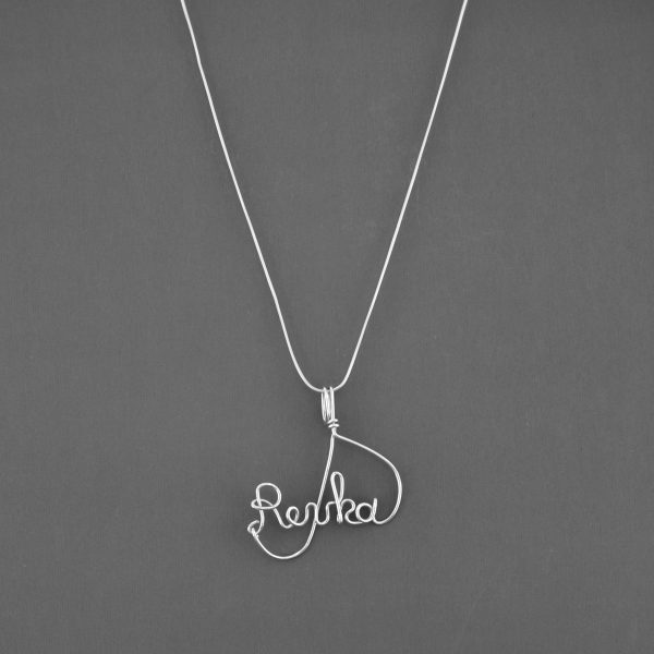 wire writing name necklace