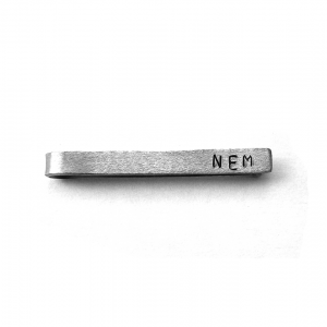personalized tie bar - top view
