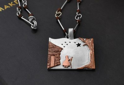 Harriet Tubman necklace - handcrafted sterling and copper chain