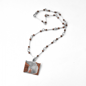 Harriet Tubman North Star necklace - handcrafted sterling and copper chain