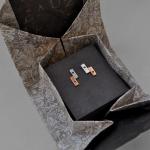 Close in Heart vertical bars earrings packaged