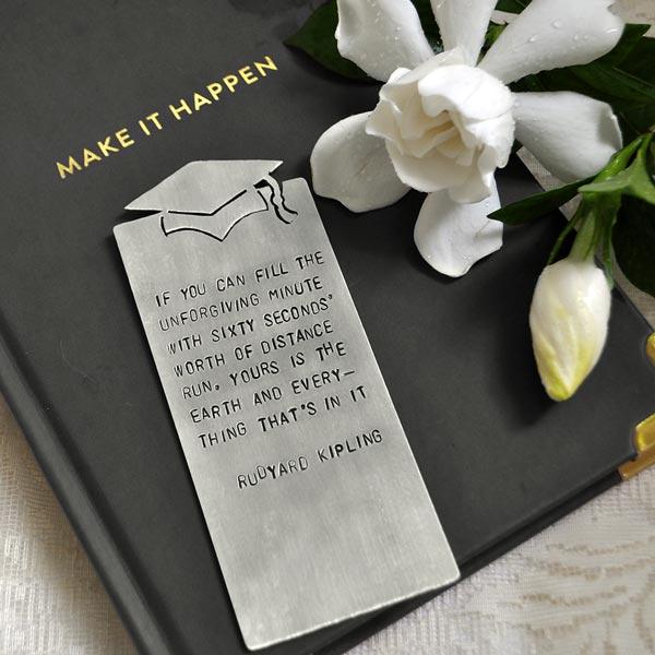 personalized graduation bookmark