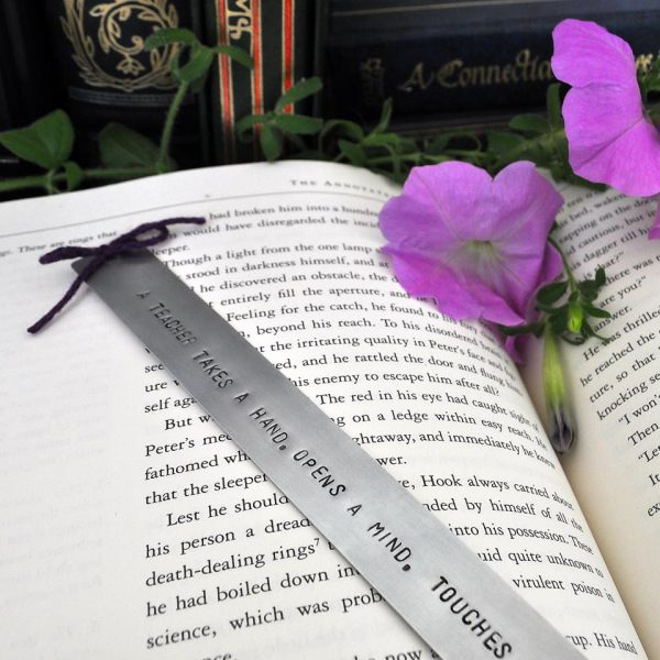personalized metal bookmark - paperback size