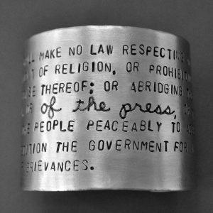 Freedom of the Press bracelet
