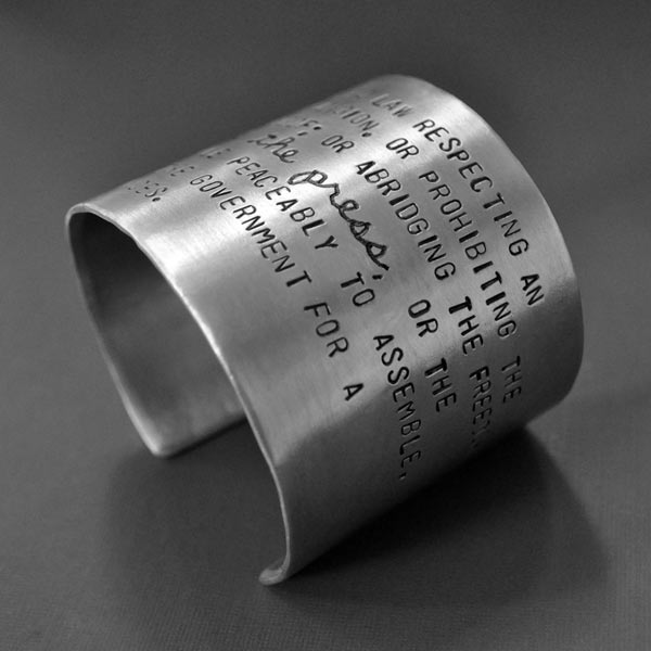 Freedom of the Press bracelet right side