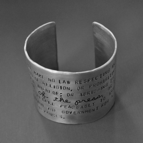 Freedom of the Press bracelet top