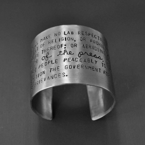Freedom of the Press bracelet