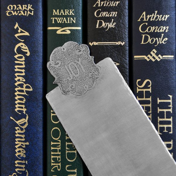 monogram bookmark with classic books