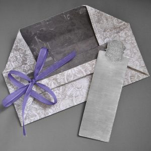 monogram bookmark with packaging