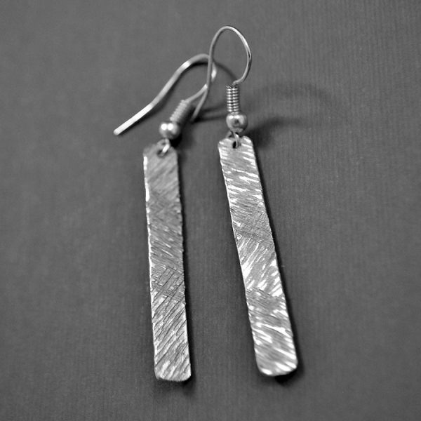 crosshatch vertical bar earrings