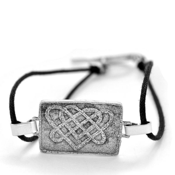 Celtic-inspired double heart knot bracelet