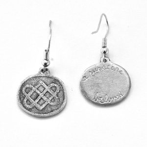 Celtic lovers knot earrings engraving