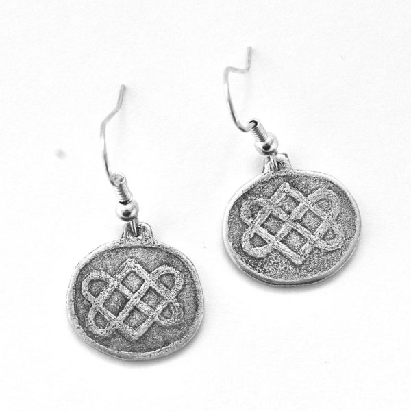 Celtic lovers knot earrings