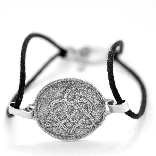 Celtic triquetra heart knot bracelet