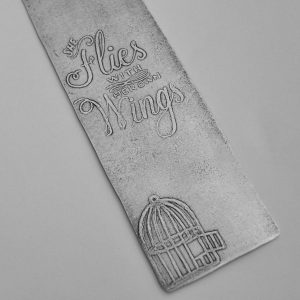 Her Own Wings bookmark detail
