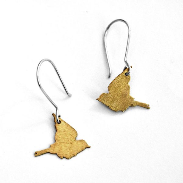 flying swallow earrings